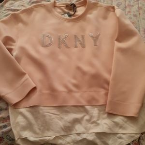 DKNY Bedazzled Sweat-top